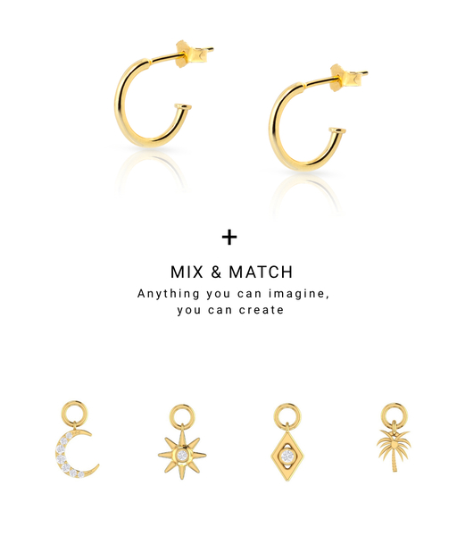 CHARMS MOON gold earrigns
