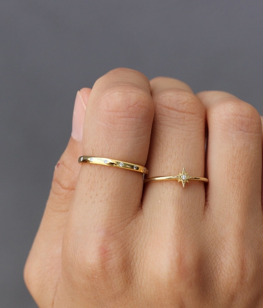 SATURN gold ring