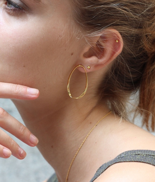 MINI BALL gold earrings