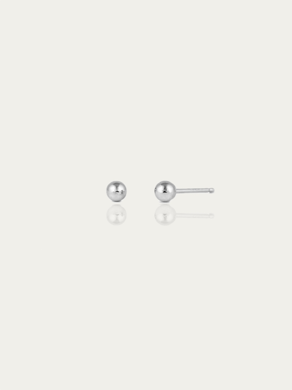 MINI BALL silver earrings