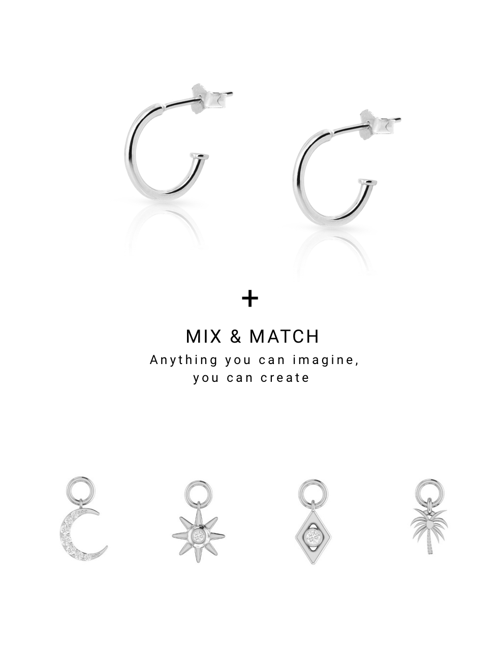 CHARM LUNA silver earrings