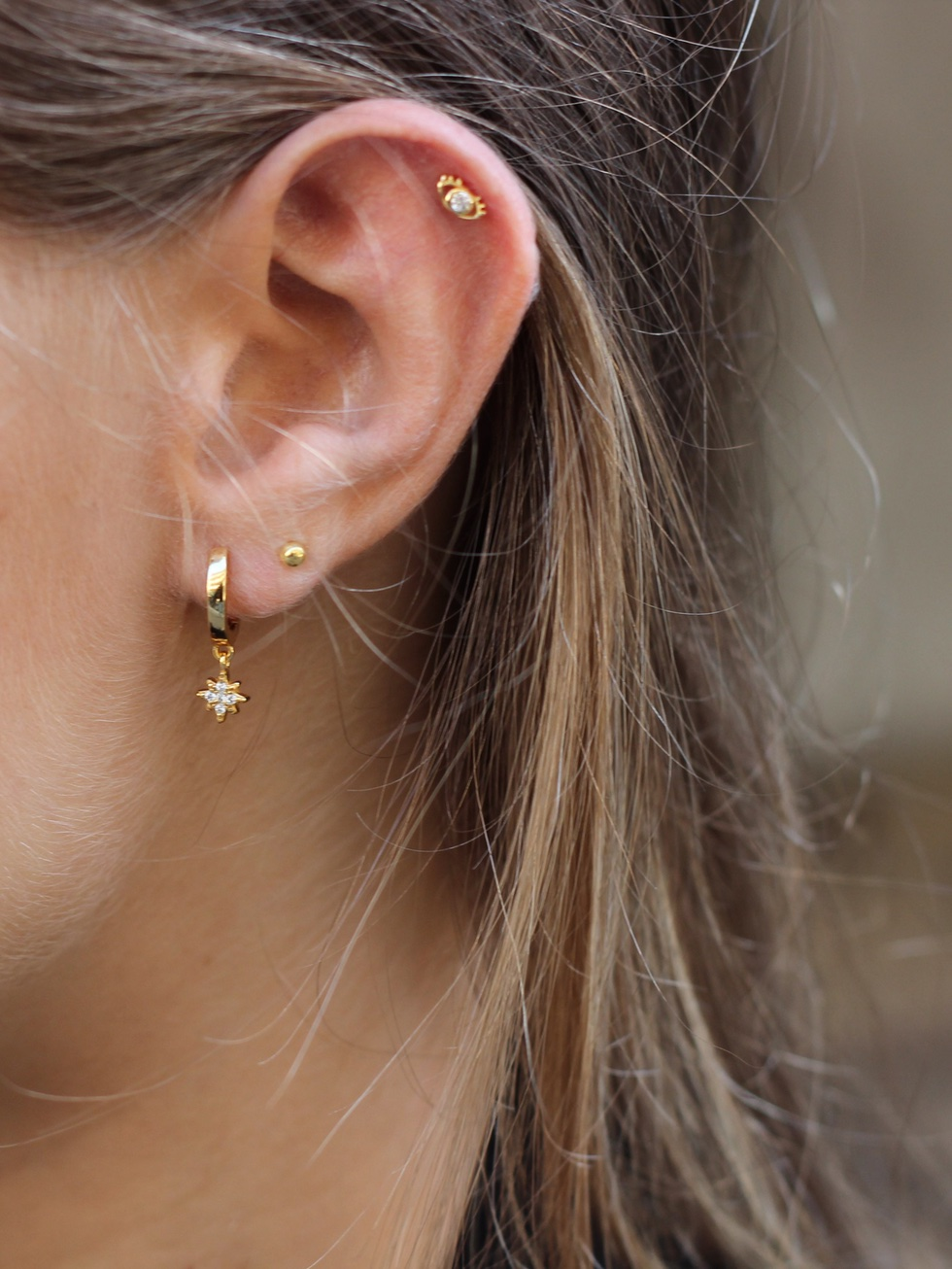 Polar Earrings Gold