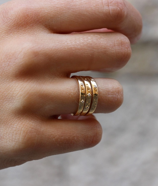 Gold PRINCE ring