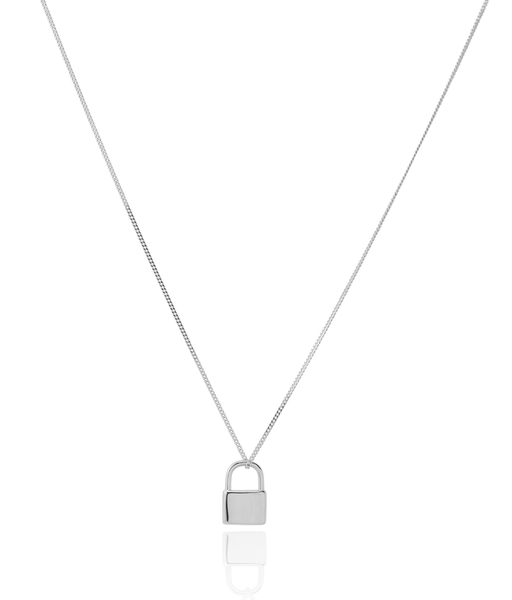 LOCK silver necklace