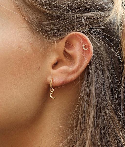 Boucles d'oreilles SUN MOON or