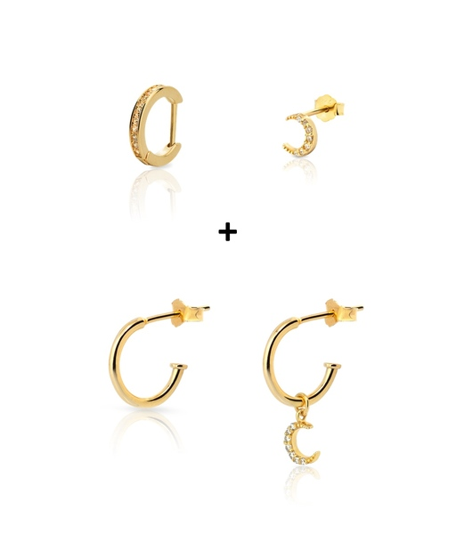 COMBO LUNA earrings gold