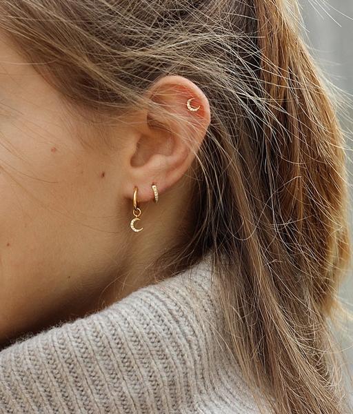 Boucles d'oreilles COMBO LUNA or
