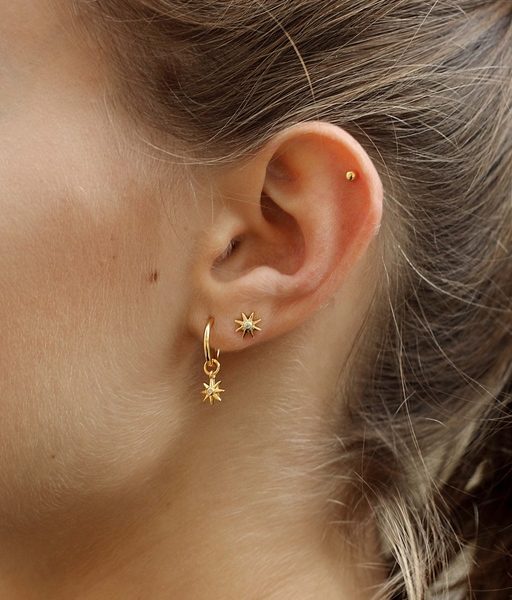 COMBO SOL gold earrings