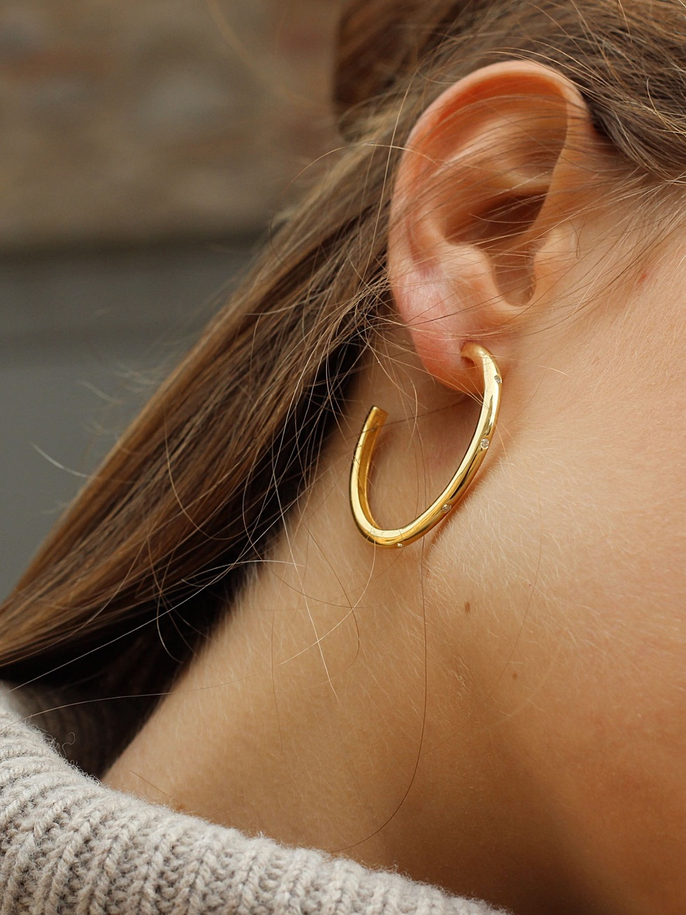 SATURN gold earrings