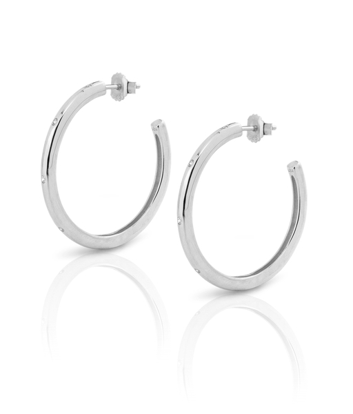 SATURN silver earrings