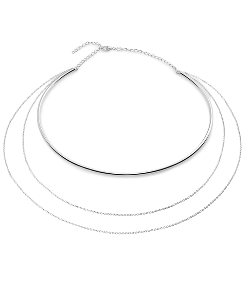 TUBE silver necklace