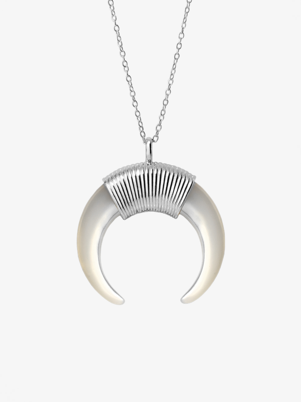 MAXI HORN NACAR silver necklace