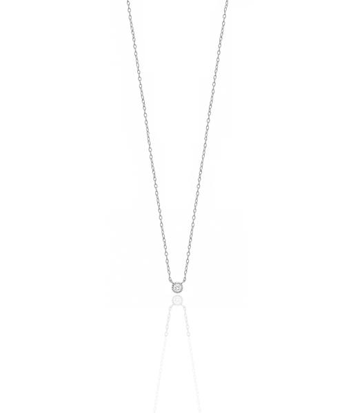 Collier basic plata