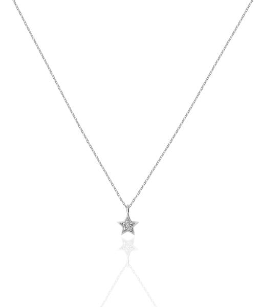 ESTRELLA CZ  silver necklace