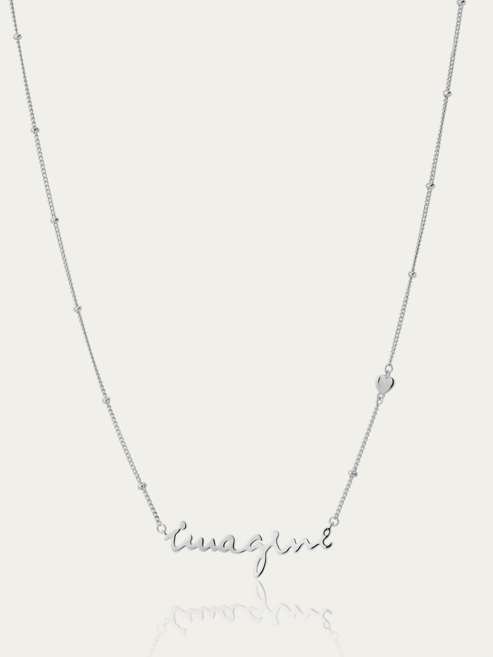 IMAGINE silver necklace