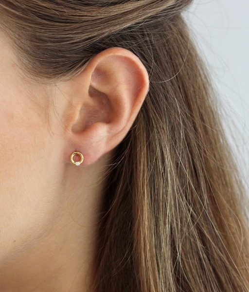 Boucles d'oreilles OH or
