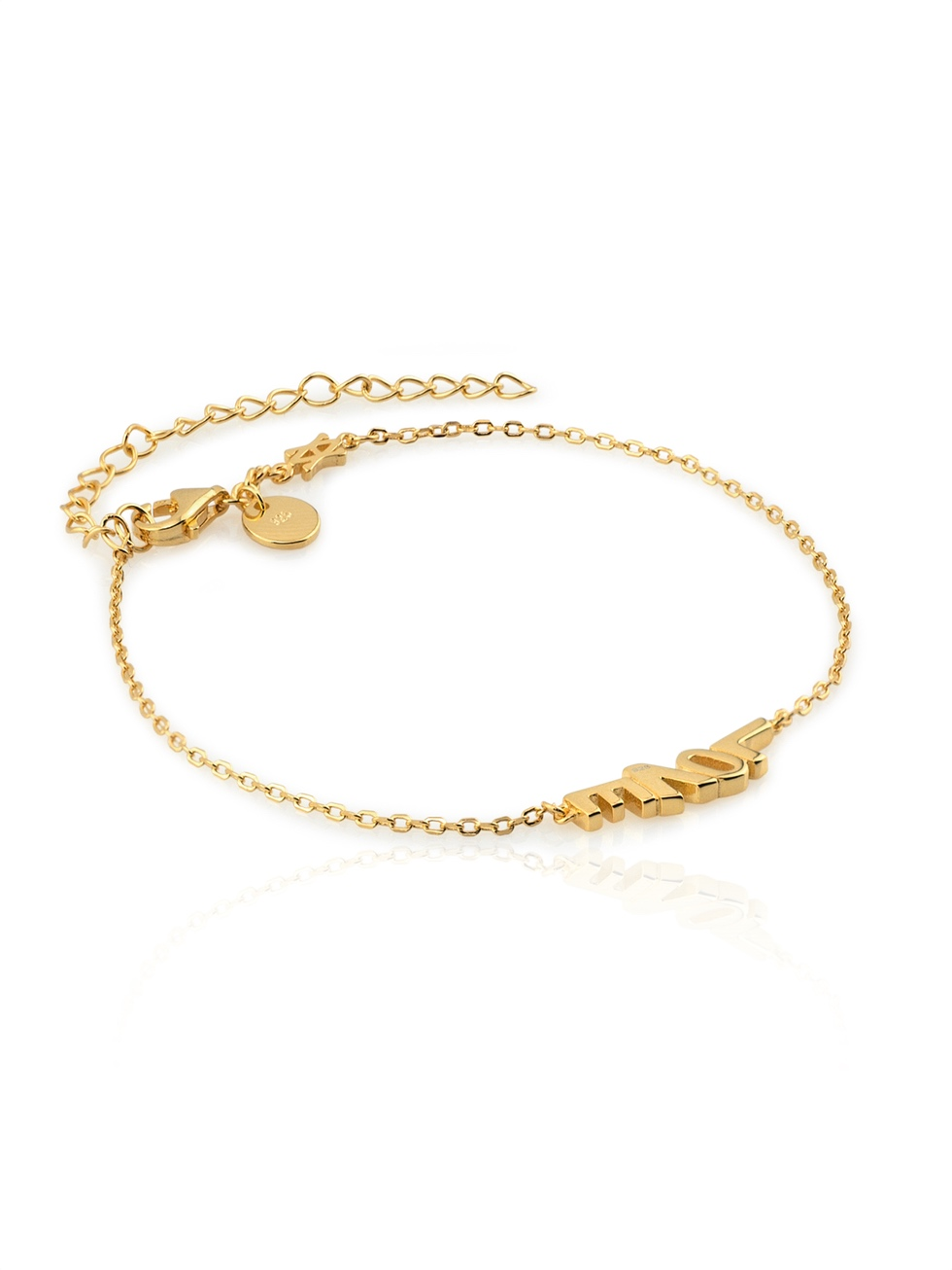 Pulsera love gold2