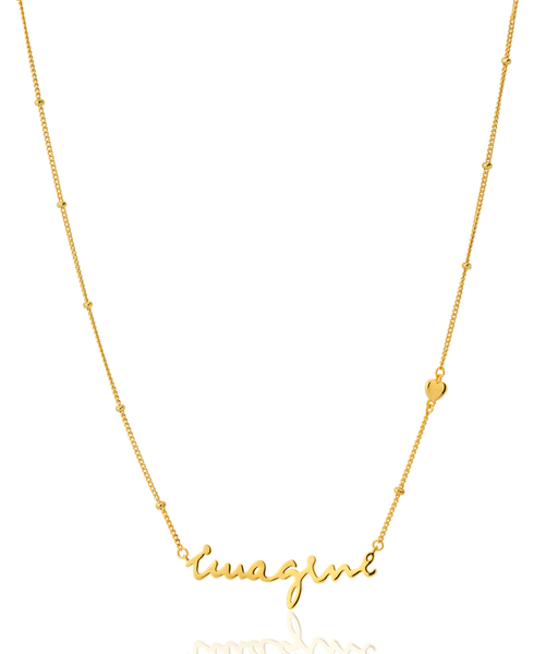 IMAGINE gold necklace