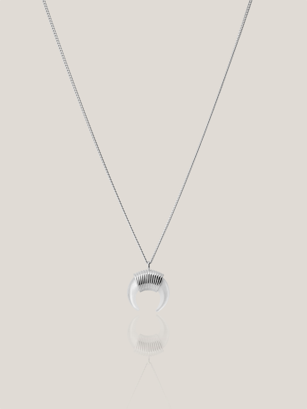 White HORN necklace SLV