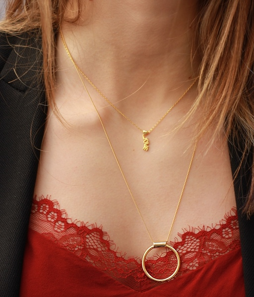 BIG CIRCLE gold necklace