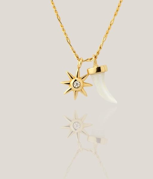 SUN HORN gold necklace