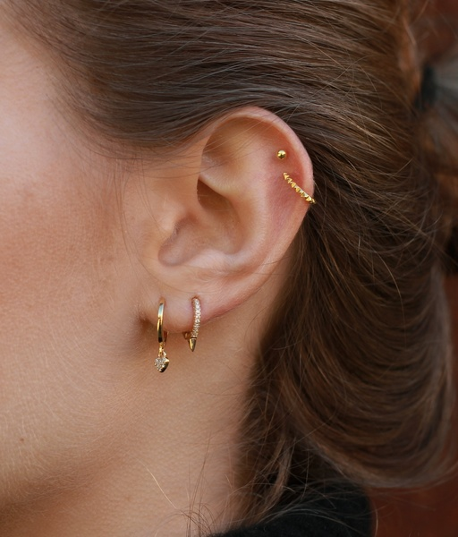HOOP PUNK gold earrings