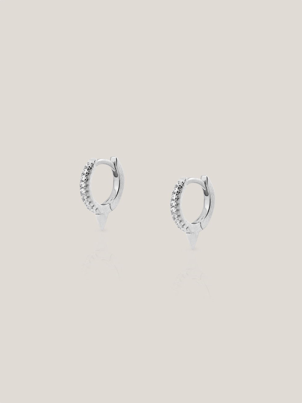 PUNK HOOP silver earrings