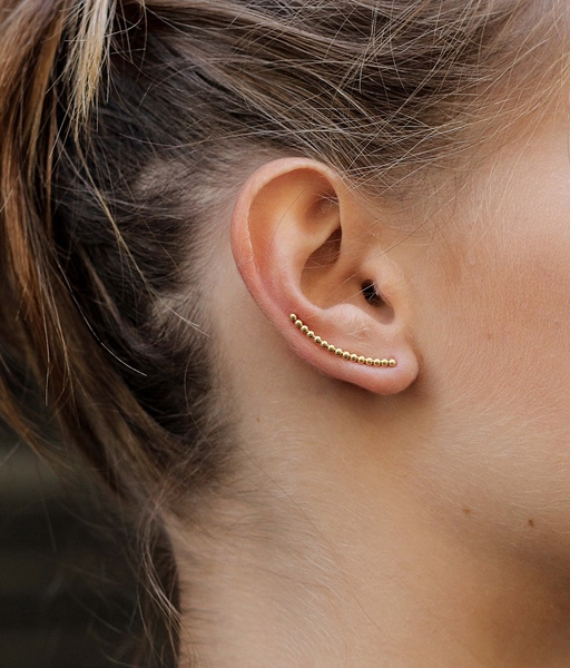 BALLS EAR CLIMBERS gold earrings