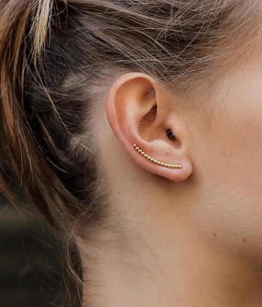 Boucles d'oreilles BALLS EAR CLIMBERS silver