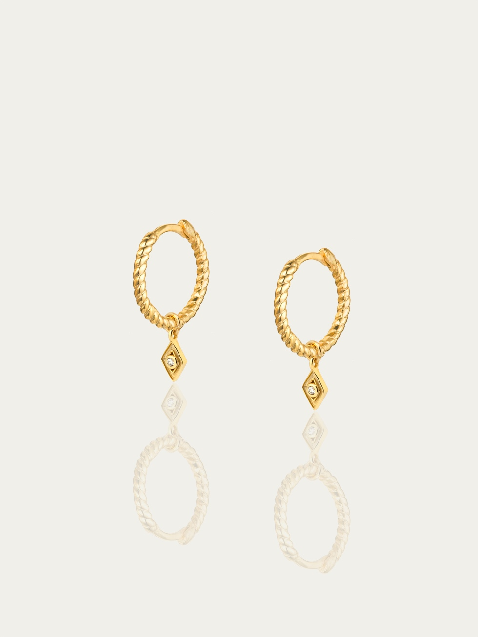 ROMBO TWIST gold hoop earrings