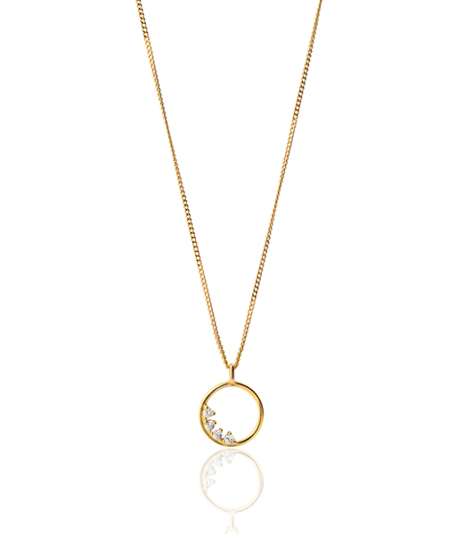 RADIANT gold necklace