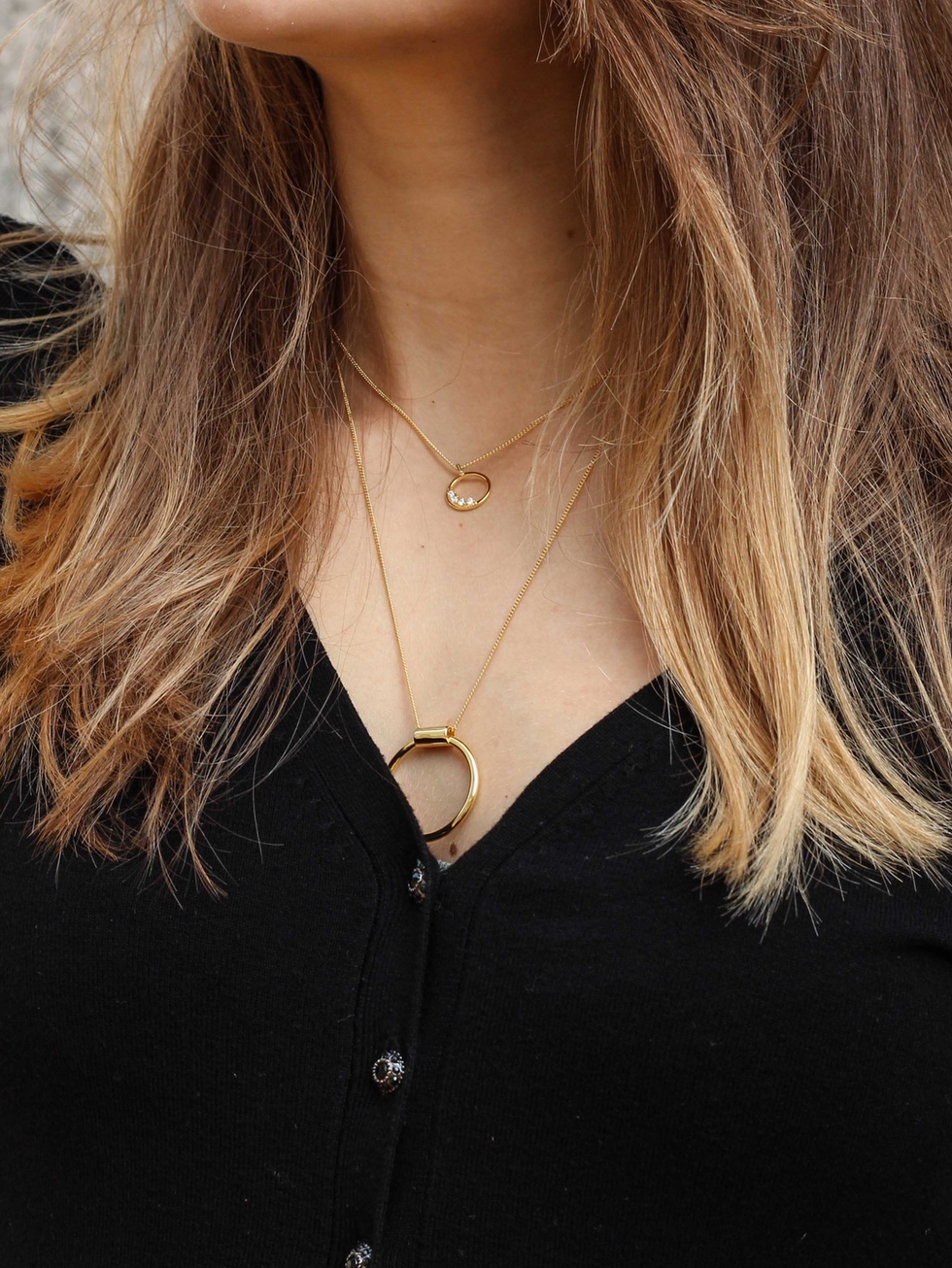Collar BIG CIRCLE oro