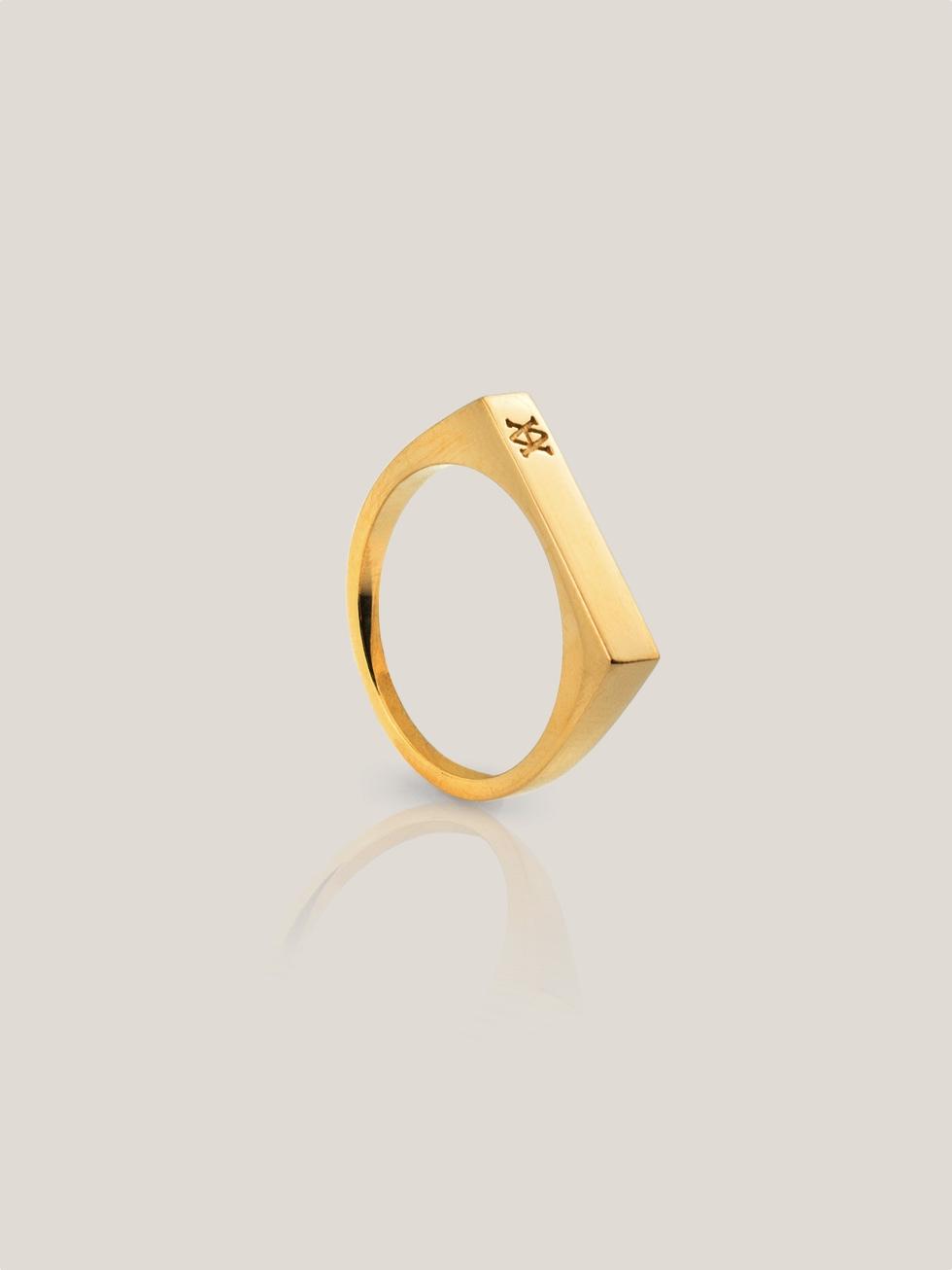 Anillo flat gold2