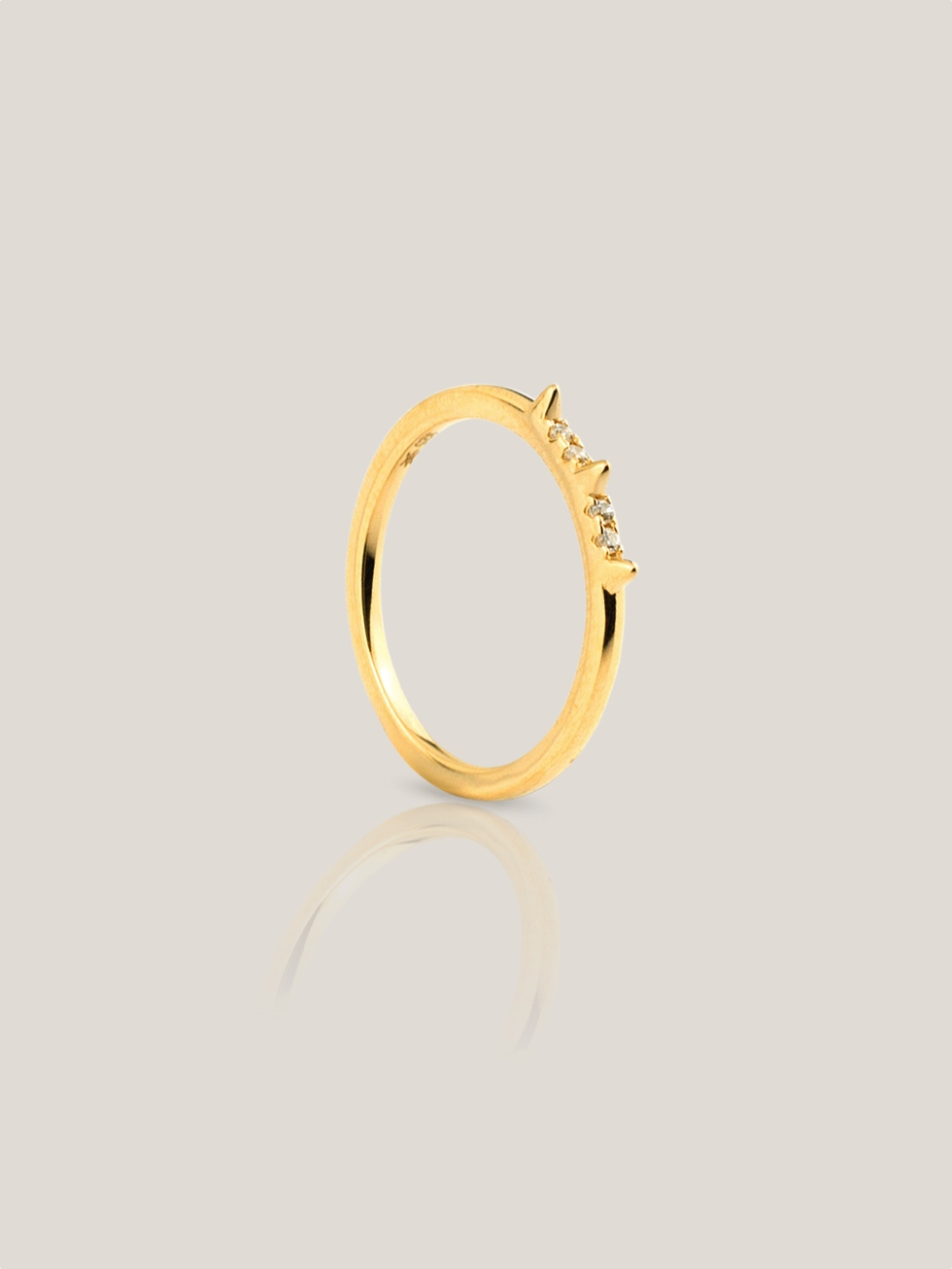 PUNK gold ring