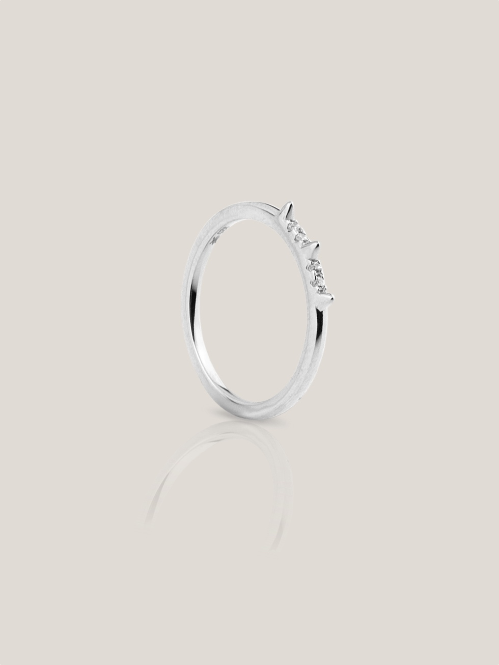 PUNK silver ring