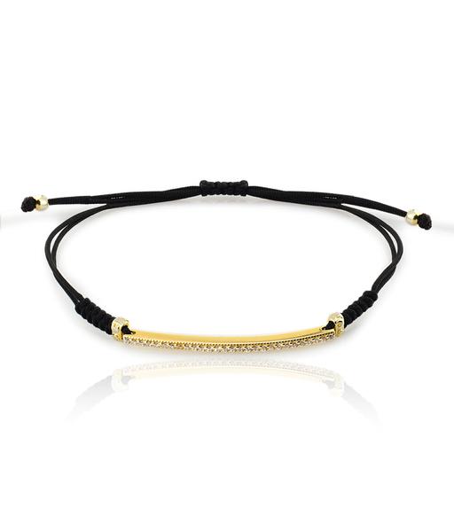 CZ BAR gold bracelet Chord