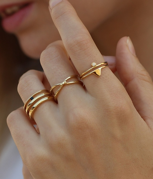 DUO gold ring