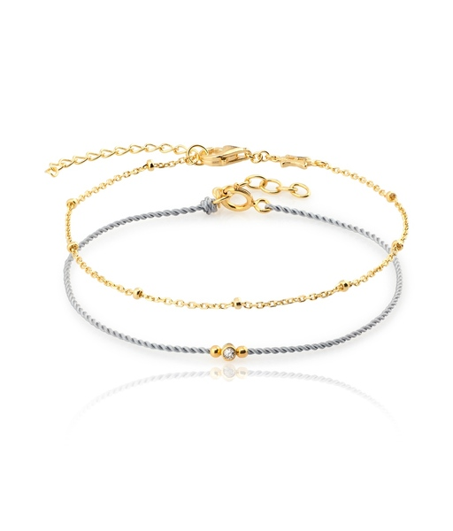 Pulsera MIX GOLD GREY or