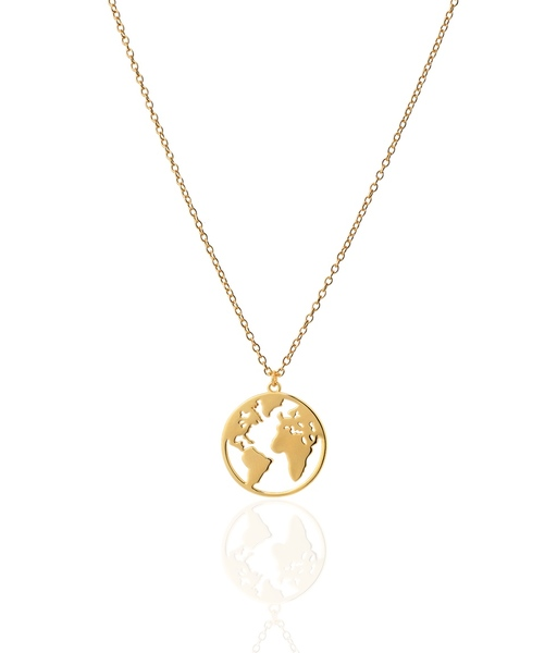 SMALL WORLD gold necklace