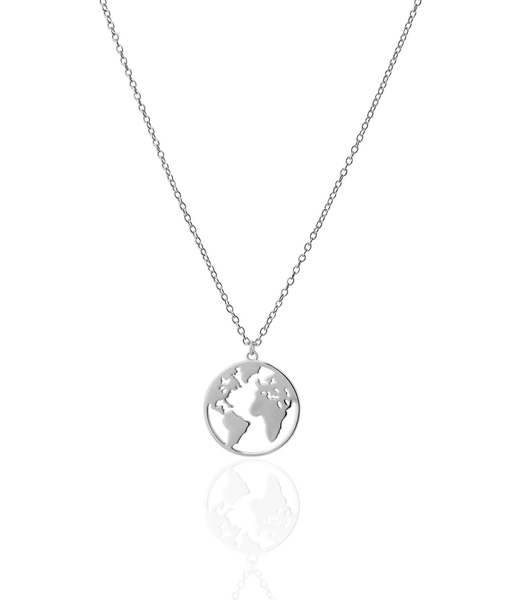 SMALL WORLD silver necklace