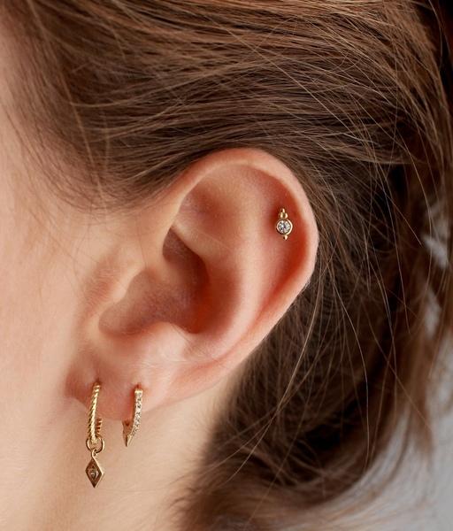 Boucles d'oreilles JAR or