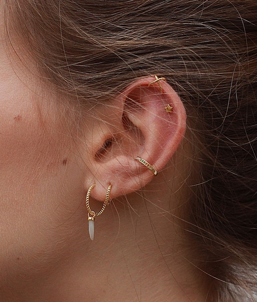 RAINBOW gold ear cuff