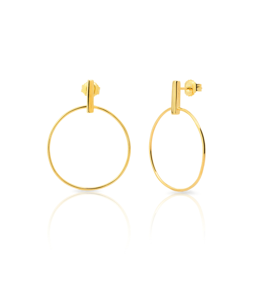 Boucles d'oreilles STICK CIRCLE or