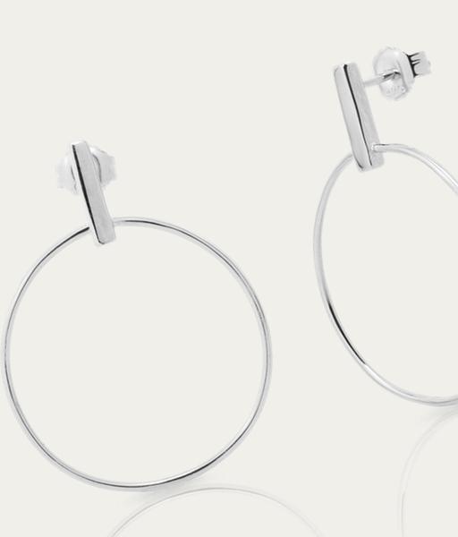 Boucles d'oreilles STICK CIRCLE plata