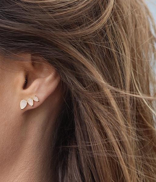 Boucles d'oreilles NATURE or