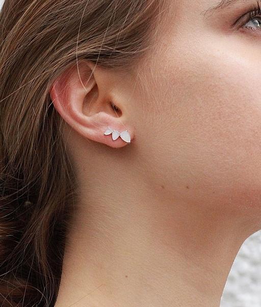 Boucles d'oreilles NATURE argent