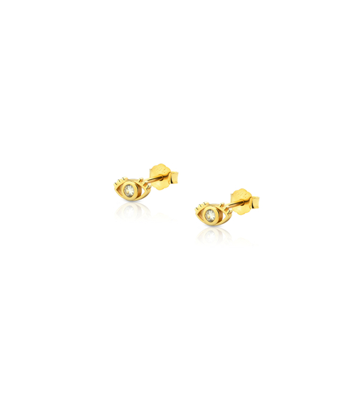 Pendientes mini EYE oro