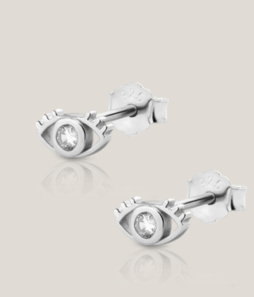 Pendientes mini EYE plata