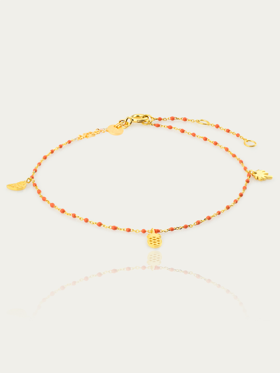 Anklet coral oro2