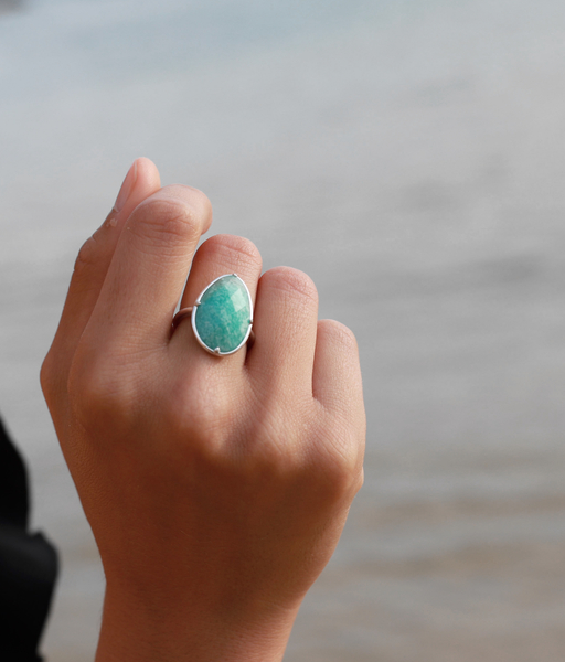 Anillo THE SEA plata
